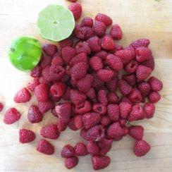 Raspberry Lime Ice Pops