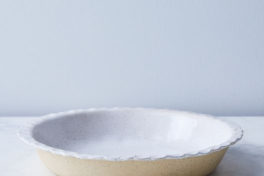 Speckled Ceramic Milk Pie Plate