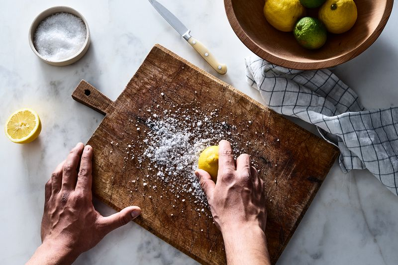 That cutting board will be smelling lemony-fresh in no time.