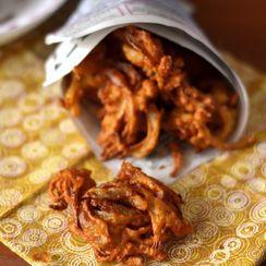 Onion Pakoras (Fritters)