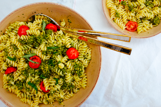 The best gluten-free vegan pesto pasta