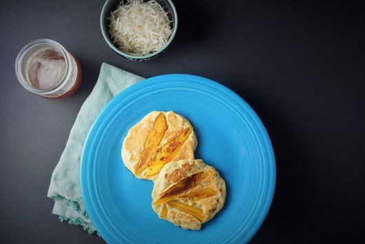 Mango Oat Pancakes