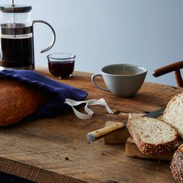 Navy Linen Bread Bags (Set of 2)