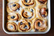 Make-Ahead Alaska Blueberry, Lemon, and Thyme Cinnamon Rolls