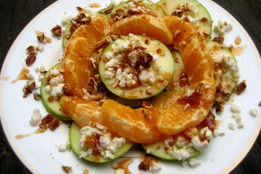 Maple Fig Pecan Apple-Orange Melange with Feta Sprinkles