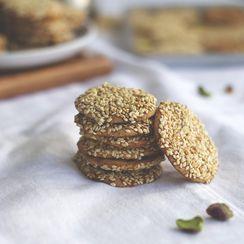 Barazek (Sesame Pistachio Cookies)