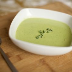 English Pea and Baby Leek Soup