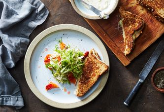 Grilled Cheese Goes to the Tropics (But Hangs Out With a Wintry Salad)
