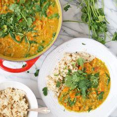 Sweet Potato & Spinach Dal