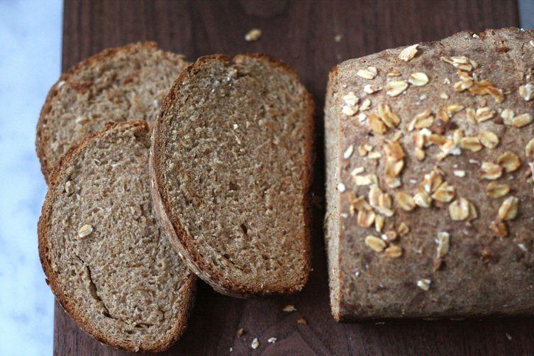 Honey Oat Whole Wheat Loaf