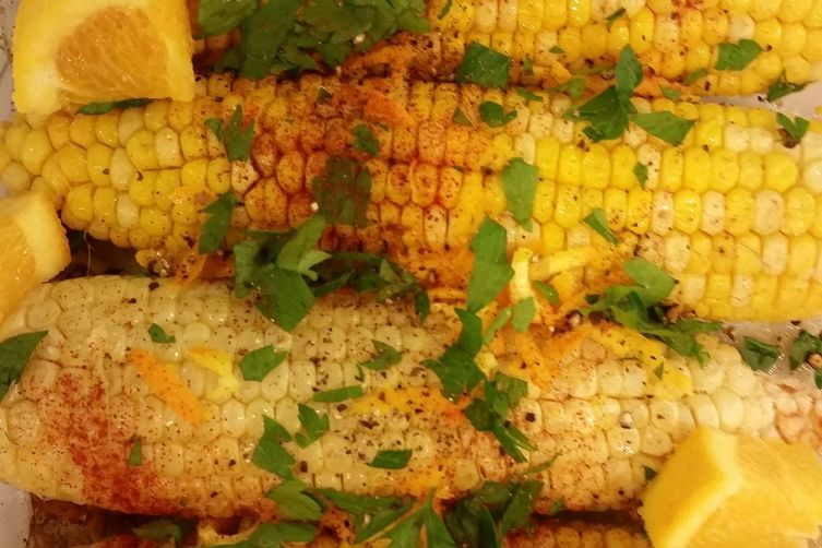 Orange Zested Roasted Corn Cobs