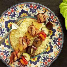 Grilled Pork and Pineapple Skewers