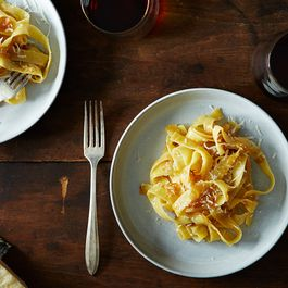 James Beard's Braised Onion Pasta by DragonFly