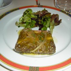 Lentil Terrine with Ham and Parsley