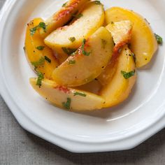 Dinner Tonight: Shrimp Sandwich + Green Peach Salad
