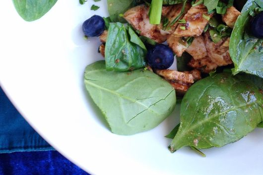 Dijon Tarragon and Balsamic Blueberry Chicken Salad