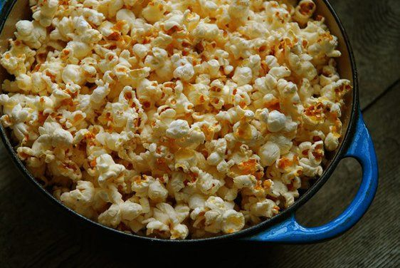 Popcorn Cooked in Bacon Fat
