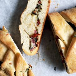 All the Salty, Cheesy Flavors of Italian Antipasto, Stuffed in Bread