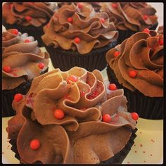 Sriracha Chocolate Cupcakes with Truffle Filling