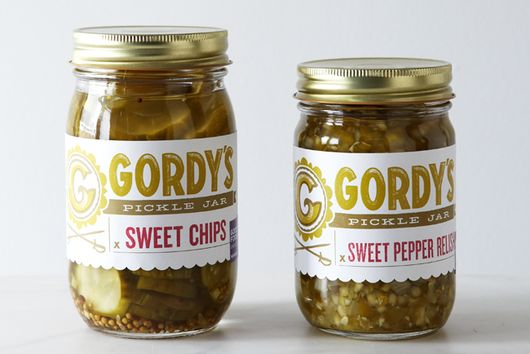 Sweet Pepper Relish and Pickle Chips