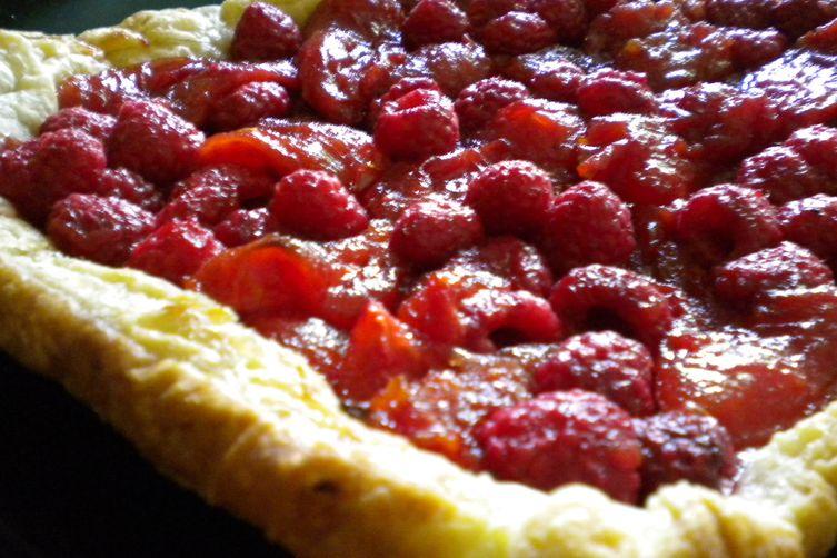 Rustic Raspberry Tomato Tart