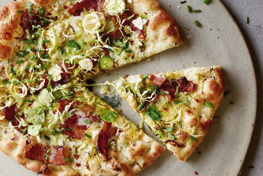 Gaby Dalkin's Shaved Brussels Sprouts and Bacon Pizza