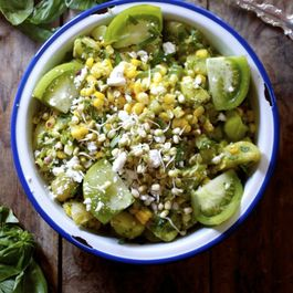 Summer Potato, Corn, & Basil Salad