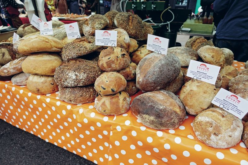 Breads aplenty at Broadway Market; photos courtesy of Insider London.