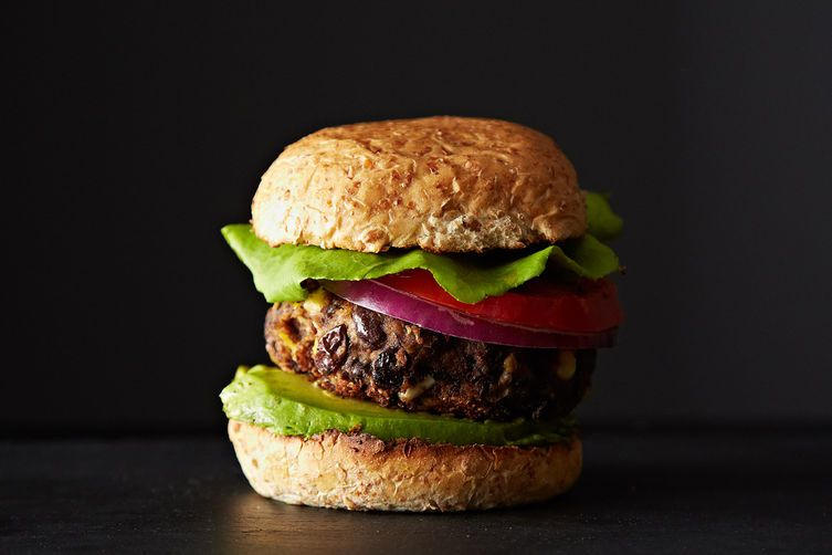 Black bean and corn burgers from Food52
