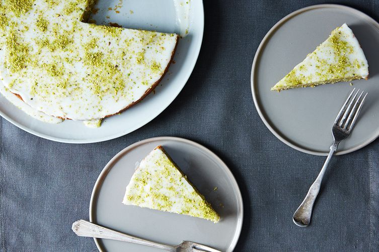 Pistachio Cake with Lemon, Cardamom, and Rose Water Recipe on Food52