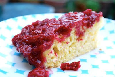 Sour Cherry and Cornmeal Upside Down Cake
