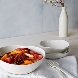 Winter Fruit Salad in Ginger Lime Syrup
