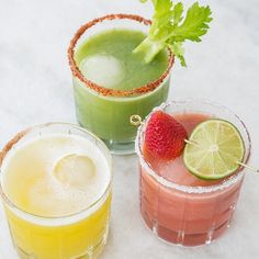 Fresh Fruit and Veggie Cocktails