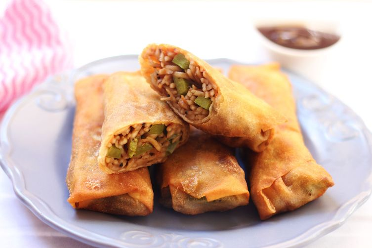 Indo-Chinese Spring Rolls