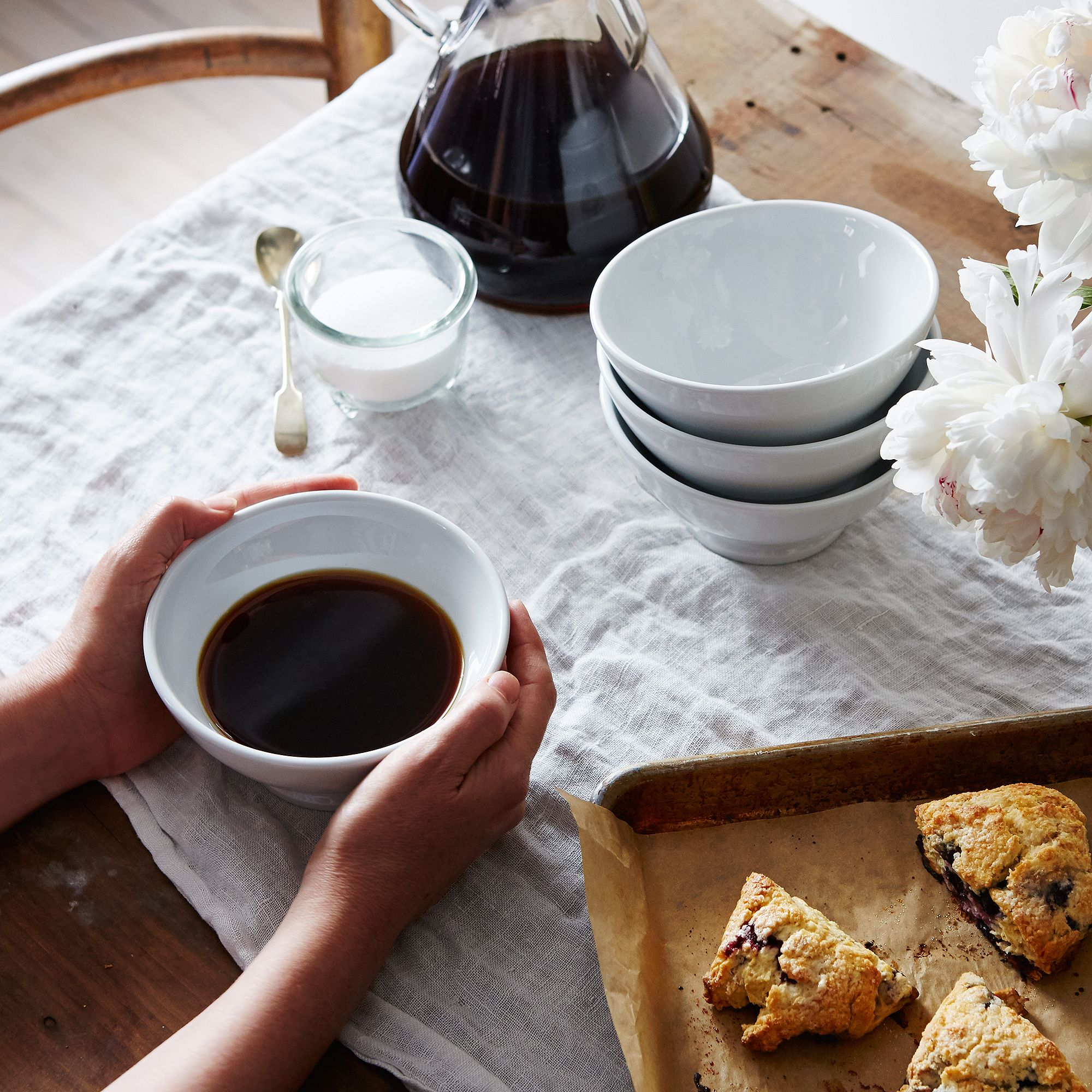 Home Goods And Decor French Coffee Bowl Set Of 4 Porcelain Mug Coffee
