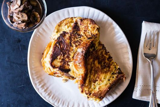 Savory French Toast + Rainbow Chard