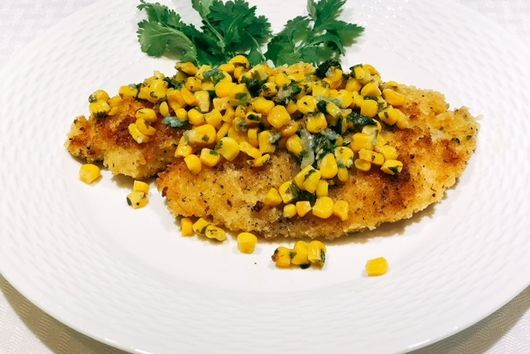 Breaded Tilapia & Cilantro Lime Corn