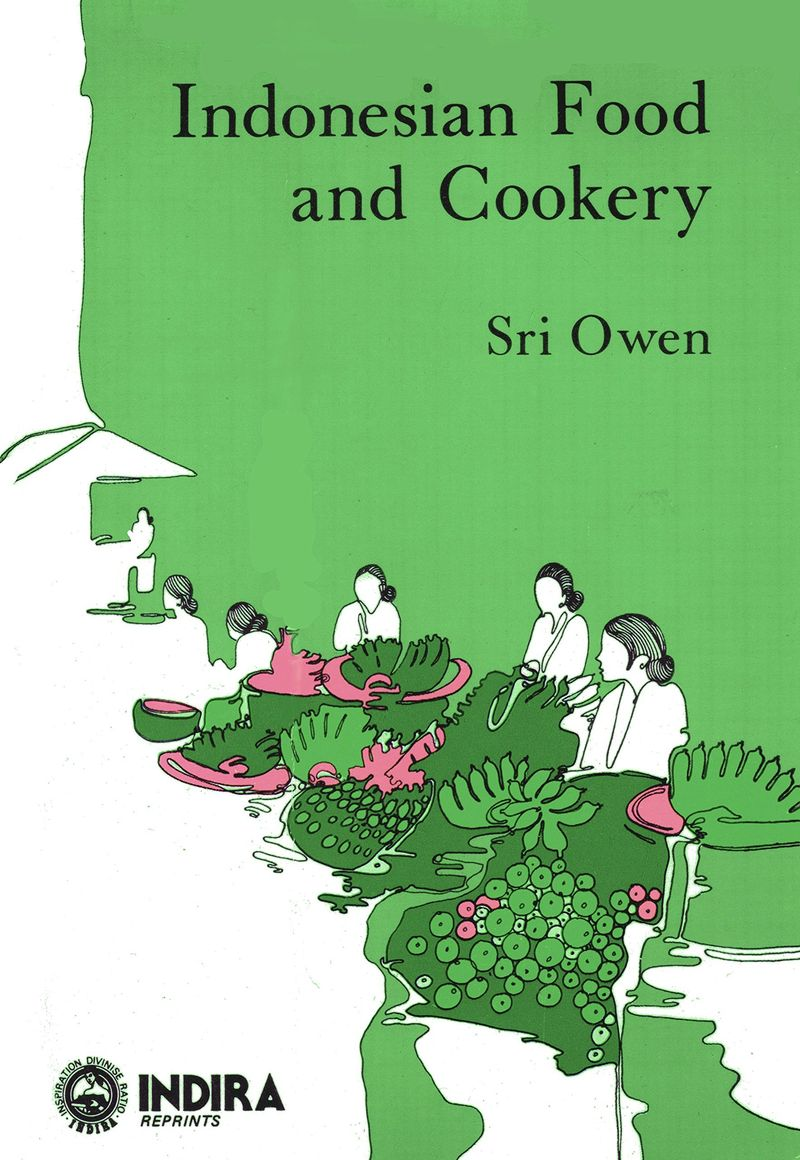 The cover of Sri Owen's 'Indonesian Food and Cookery' (1976).