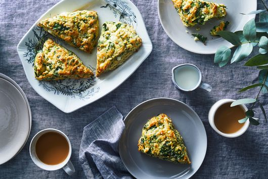 A Cheesy, Savory Scone That Wants to Be Spanakopita