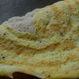 Egg Dosa ( Sourdough Crepes with Egg)