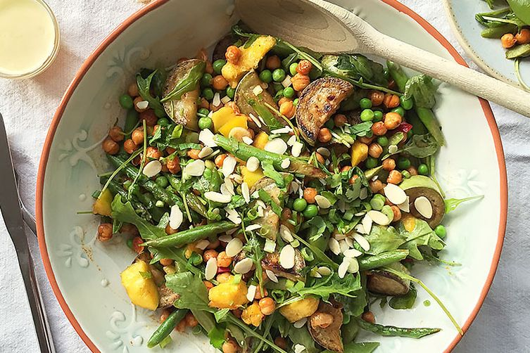 Mango Salad With Roasted Chickpeas Asparagus