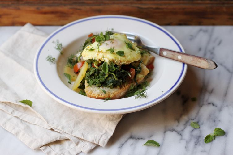 Acquacotta (Wild Greens and Bread Soup)