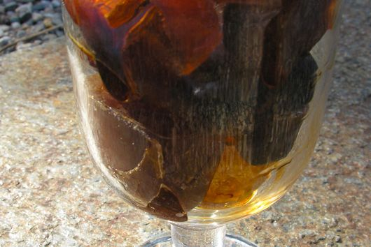 Infused coffee ice cubes