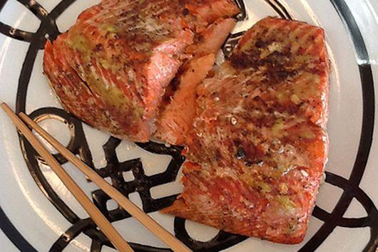 Wasabi & Ginger Roasted Salmon