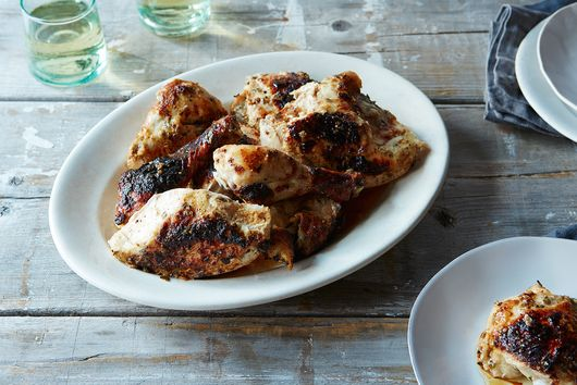 Buttermilk-Marinated Roast Chicken with Tarragon and Dijon Mustard