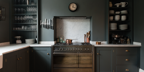 A brass-accented, shaker-inspired kitchen + more