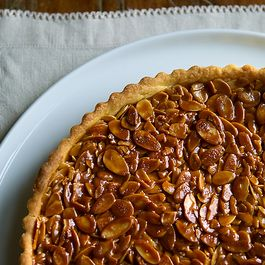 Tangerine and Almond Shortbread Tart