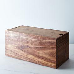 Walnut Bread Box