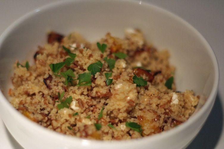 Winter Couscous and Bulgur Salad