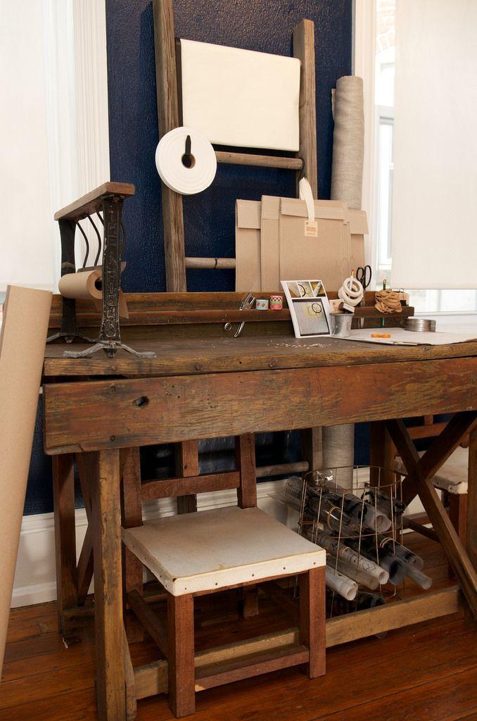 Celina Mancurti linen printing table
